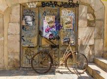 Girona Oude straat Stock Afbeelding