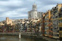 Girona panorama Royalty-vrije Stock Foto