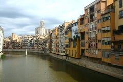 Girona panorama Stock Afbeelding