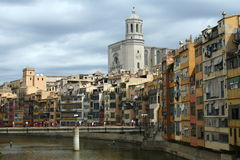 Girona panorama. On the east of Spain royalty free stock photo