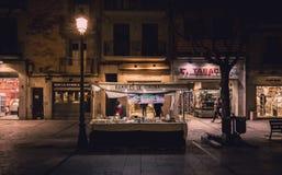 Girona Ramblas Stockfoto
