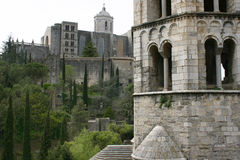 Girona's Cathedral. A view of Girona's Cathedral Stock Images
