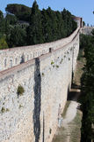 Girona's city surrounding walls Stock Photos