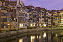 Girona's colourful houses II Stock Photography