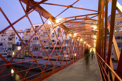 Girona's Eiffel Bridge Stock Photo
