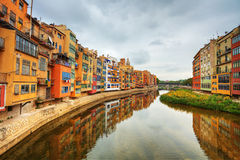 Girona. Spain. Jewish quarter in Girona. Spain Royalty Free Stock Images