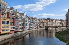 Girona,Spain. The beautiful colours of Girona in Catalonia, Spain Royalty Free Stock Photography