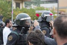 GIRONA-SPAIN 1 OCTOBER Catalonia independence votes Stock Photo