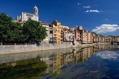 Girona, Spanje Stock Foto's