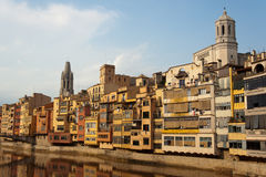 Girona Spanje Stock Afbeelding