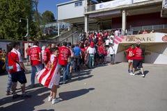 Girona supporters Stock Photos