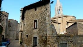 Girona, vecchia città Fotografie Stock