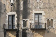 Girona & x28; Catalunya, Spain& x29; , gothic budynki Zdjęcie Stock