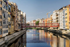 Girona & x28;Catalunya, Spain& x29; houses along the river Royalty Free Stock Photography