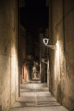 Girona & x28; Catalunya, Spain& x29; nocą Obraz Stock