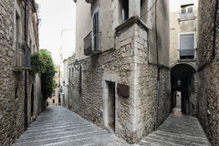 Girona & x28;Catalunya, Spain& x29;, old streets Royalty Free Stock Images