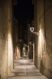 Girona & x28; Catalunya, Spain& x29; 's nachts Stock Afbeelding