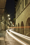 Girona y sus calles viejas Foto de archivo