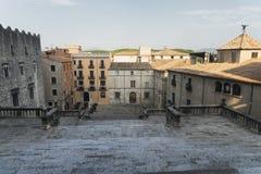 Girona y x28; Catalunya, Spain& x29; , edificios góticos Fotografía de archivo libre de regalías