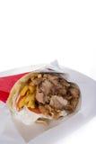 Giros με το tzatziki και το χοιρινό κρέας Στοκ Εικόνες