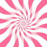 Giros brillantes de la cinta del color de rosa caliente Imagen de archivo libre de regalías