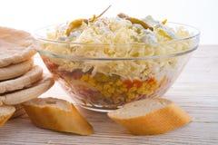Giroscópio do pão árabe imagens de stock royalty free