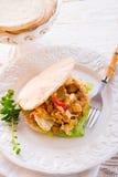 Giroscópio do pão árabe imagem de stock