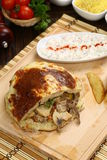 Giroscópio ou sanduíche do shawarma fotografia de stock royalty free