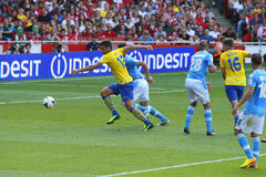Giroud im Arsenal-Napoli Stockfotografie