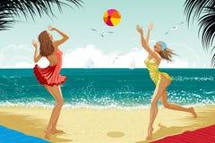 girs 2 пляжа красивейшие Стоковое Фото