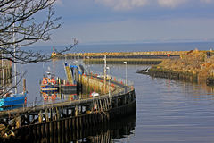 Girvan harbour Stock Photography