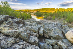Girvas eruptive crater. An hdr shot of the most ancient volcano Girvas in Karelia (Russia Stock Photos