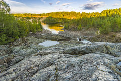 Girvas eruptive crater. An hdr shot of the most ancient volcano Girvas in Karelia (Russia Stock Photography
