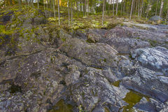 Girvas. The most ancient on the earth volcano Girvas in Karelia (Russia royalty free stock photo