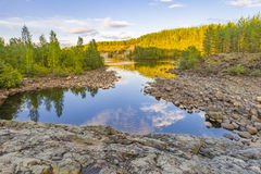Girvas. The most ancient on the earth volcano Girvas in Karelia (Russia royalty free stock photos