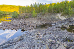 Girvas. The most ancient on the earth volcano Girvas in Karelia (Russia royalty free stock images