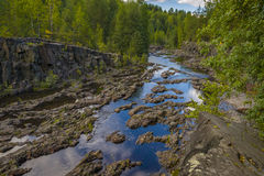 Girvas. A shot of the most ancient on the earth volcano Girvas in Karelia (Russia stock image