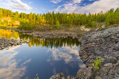 Girvas. A shot of the most ancient on the earth volcano Girvas in Karelia (Russia stock photo