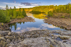 Girvas. A shot of the most ancient on the earth volcano Girvas in Karelia (Russia royalty free stock photography