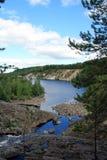 Girvas slocknad vulkan Karelia Ryssland Arkivbilder