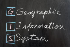 GIS, Geographic Information System Stock Photo