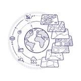 GIS Konzept-Daten-Schichten für Infographic lizenzfreie abbildung