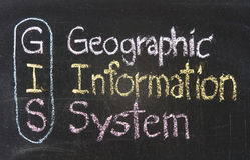 GIS, l$système d'information géographique Image stock