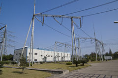 GIS substation Stock Images
