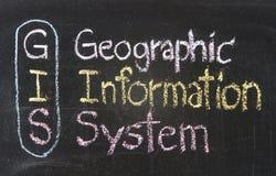 GIS system för geografisk information Fotografering för Bildbyråer