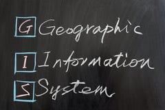 GIS system för geografisk information Arkivfoto