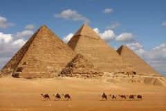 Giseh-Pyramiden Lizenzfreie Stockfotos