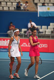 Gisela Dulko and Flavia Pennetta royalty free stock image