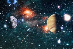 Gisement d'étoile dans l'espace lointain beaucoup d'années lumière loin de la terre Éléments de cette image meublés par la NASA Photos libres de droits