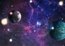 Gisement d'étoile dans l'espace lointain beaucoup d'années lumière loin de la terre Éléments de cette image meublés par la NASA Image libre de droits